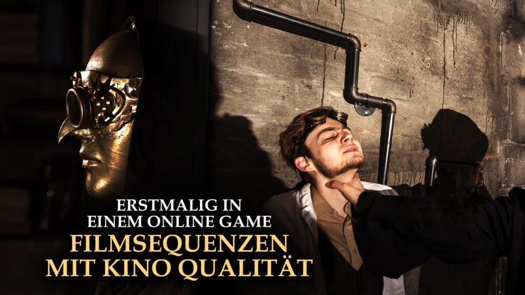 Esrtmalig Filmsequenzen im Escape Game Online